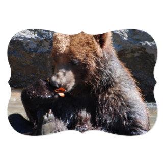 Urso de Brown em Finlandia Convite 12.7 X 17.78cm