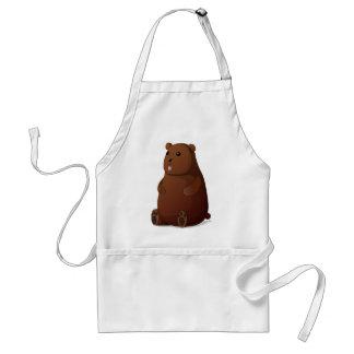 Urso de Brown enchido pateta bonito do ursinho Avental