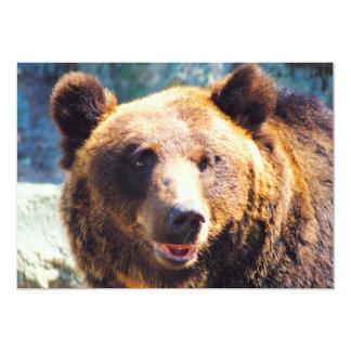 Urso de Brown grande Convite 12.7 X 17.78cm