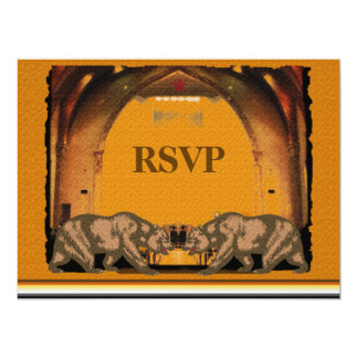 Urso de Califórnia que Wedding RSVP para noivos Convite 16.51 X 22.22cm
