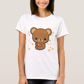 Urso de Kawaii Brown Tshirts