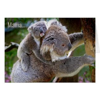 Urso de Koala & cartão da ocasião de /All do dia