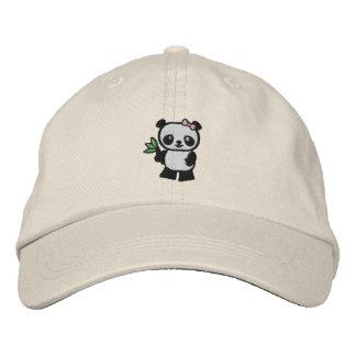 Urso de panda boné bordado