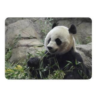 Urso de panda chinês gigante convites personalizados