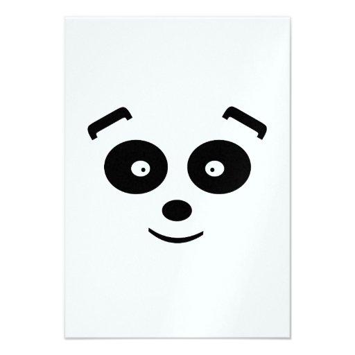 Urso de panda convite personalizados