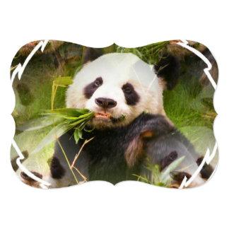 Urso de panda convite 12.7 x 17.78cm