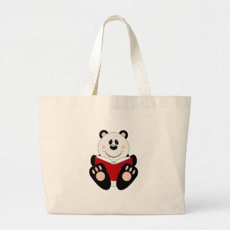 Urso de panda da leitura de Cutelyn Sacola Tote Jumbo