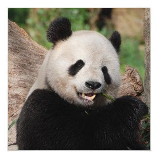 Urso de panda de sorriso convites
