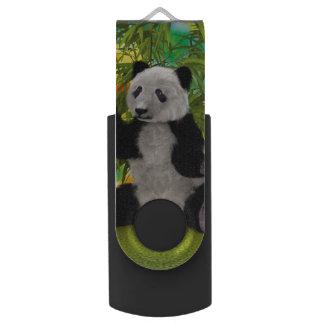 Urso de panda pen drive giratório