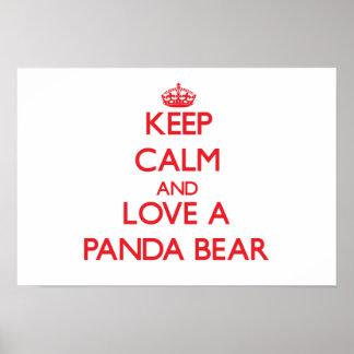 Urso de panda posteres