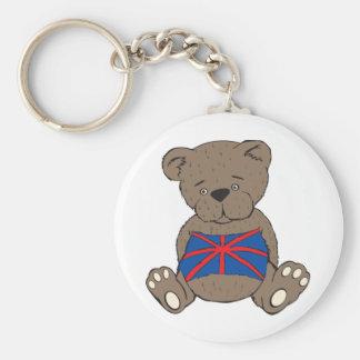 Urso de Union Jack Chaveiro