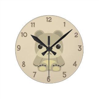 Urso de ursinho adorável relógios para paredes