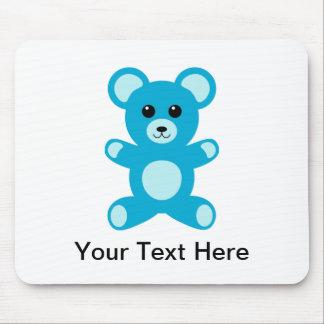 Urso de ursinho azul do bebé bonito mouse pad