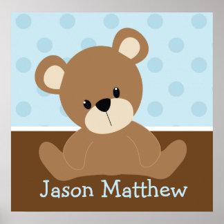 Urso de ursinho azul pôster