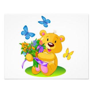 Urso de ursinho bonito convites personalizado