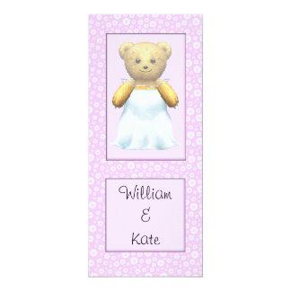 Urso de ursinho bonito da noiva do casamento convites personalizado