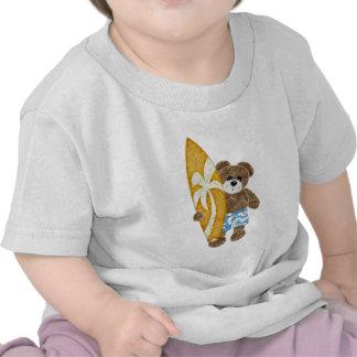 Urso de ursinho bonito do surfista t-shirts
