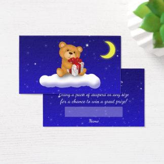 Urso de ursinho com presente - bilhete do Raffle Cartão De Visitas