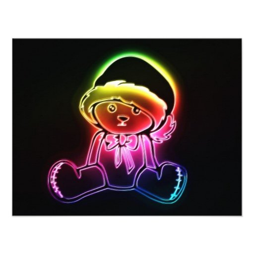 urso de ursinho convites personalizados