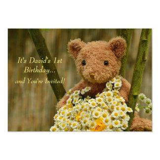 Urso de ursinho & convite das margaridas