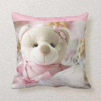 Urso de ursinho cor-de-rosa do bebé do travesseiro almofada