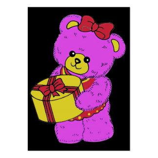 Urso de ursinho cor-de-rosa e amarelo escuro para cartao de visita