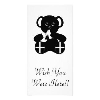 Urso de ursinho Cornish da bandeira Cartão Com Foto