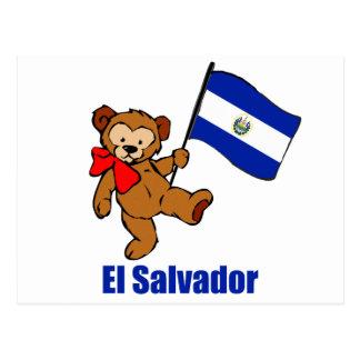 Urso de ursinho de El Salvador Cartão Postal
