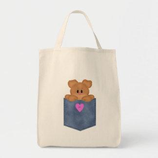 Urso de ursinho do bolso de Jean Sacola Tote De Mercado