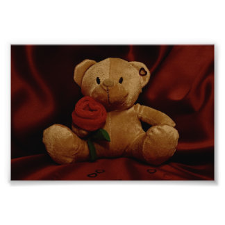 Urso de ursinho do dia dos namorados impressão de foto