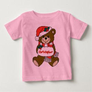 Urso de ursinho do papai noel com chapéu e Muff T-shirt