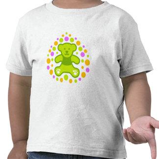 Urso de ursinho e seixos - verde t-shirt