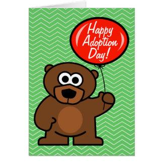 Urso de ursinho feliz do cartão | do dia da