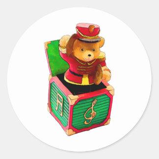Urso de ursinho Jack in the Box Adesivo Redondo