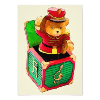 Urso de ursinho Jack in the Box Convite Personalizado
