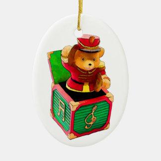 Urso de ursinho Jack in the Box Enfeites Para Arvores De Natal