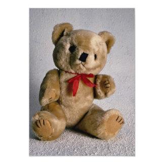 Urso de ursinho marrom bonito convite 12.7 x 17.78cm