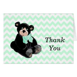 Urso de ursinho no obrigado de Chevron você cartão