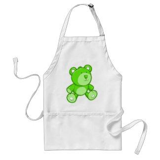 Urso de ursinho verde avental