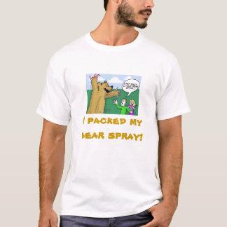 Urso de urso, eu embalei meu pulverizador do urso! camiseta