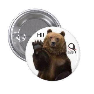 urso de urso olá! bóton redondo 2.54cm