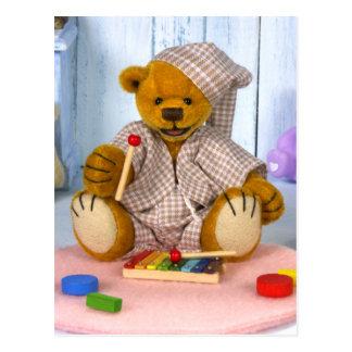 Urso Dinky com xilofone Cartão Postal