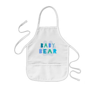 Urso do bebê - azul avental