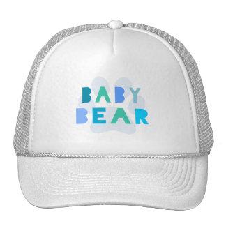 Urso do bebê - azul boné