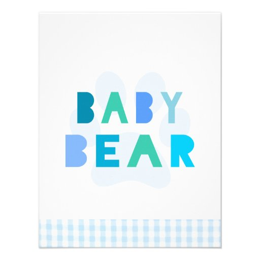 Urso do bebê - azul convites