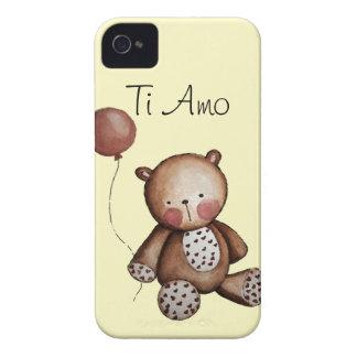 Urso do bebê com a caixa de Blackberry do balão Capa Para iPhone