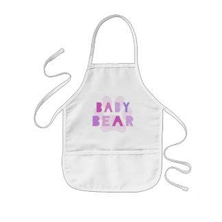 Urso do bebê - rosa avental