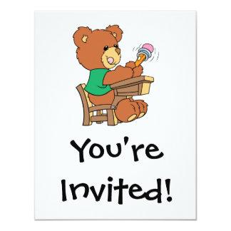 Urso do estudo dos dias escolares convites