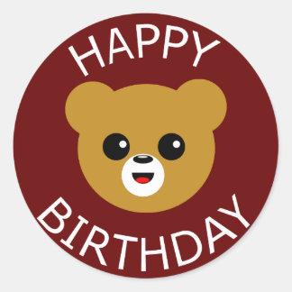 Urso do feliz aniversario adesivo