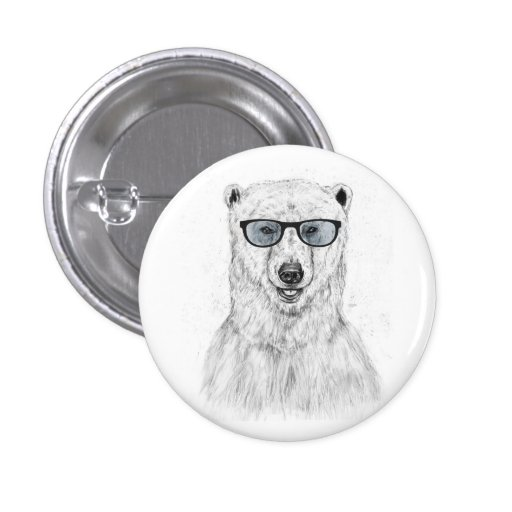 Urso do geek (azul) boton